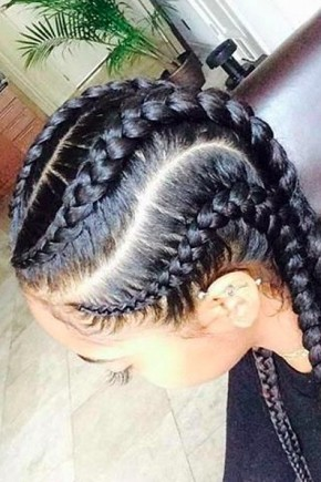 Best Cornrow Braids  into French Braids