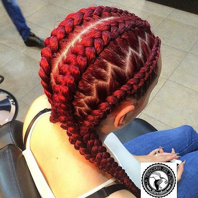 Best Cornrow Braidsand red hair color