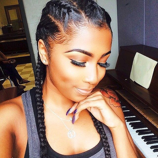 Cute Cornrow Braids for black women