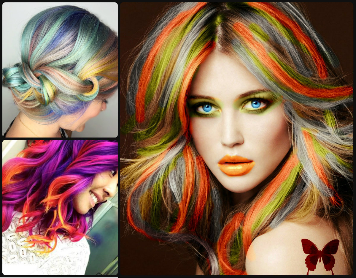 Rainbow Hair Colors For Holidays 2016 Long Hairstyles