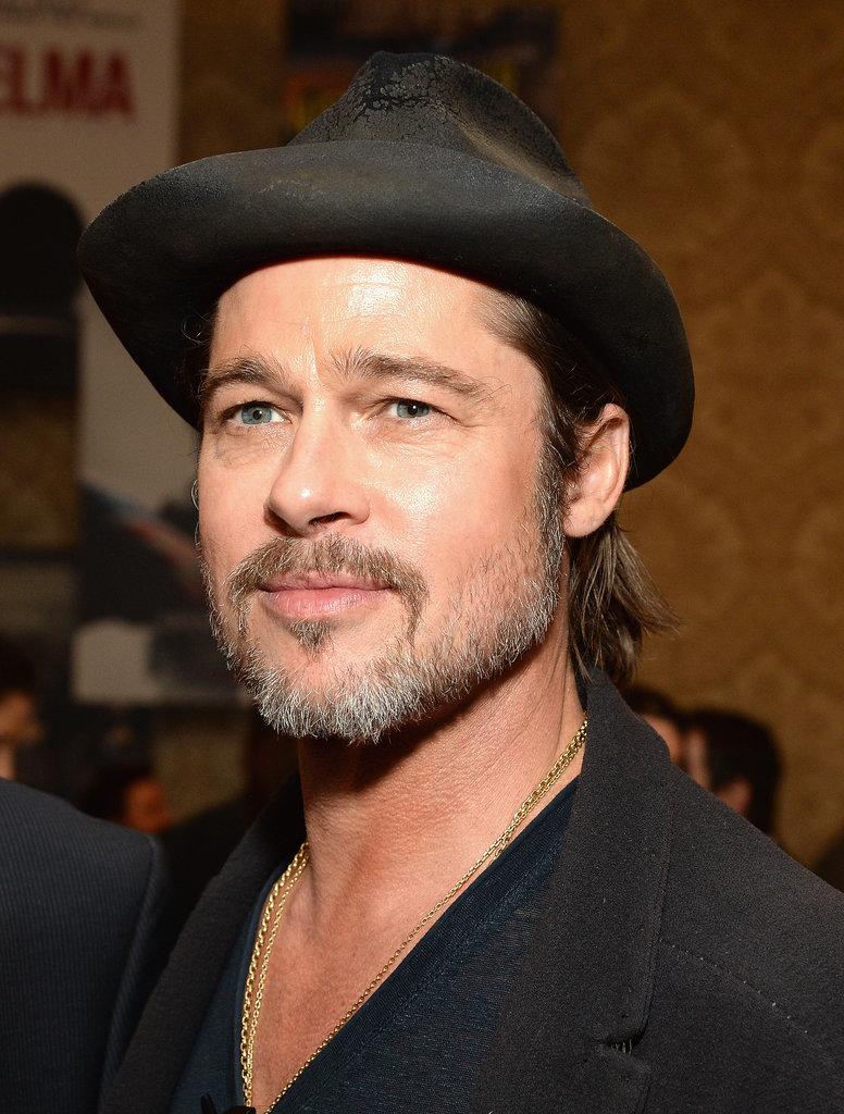 Brad Pitt Celebrity Gray Hairstyles for Men