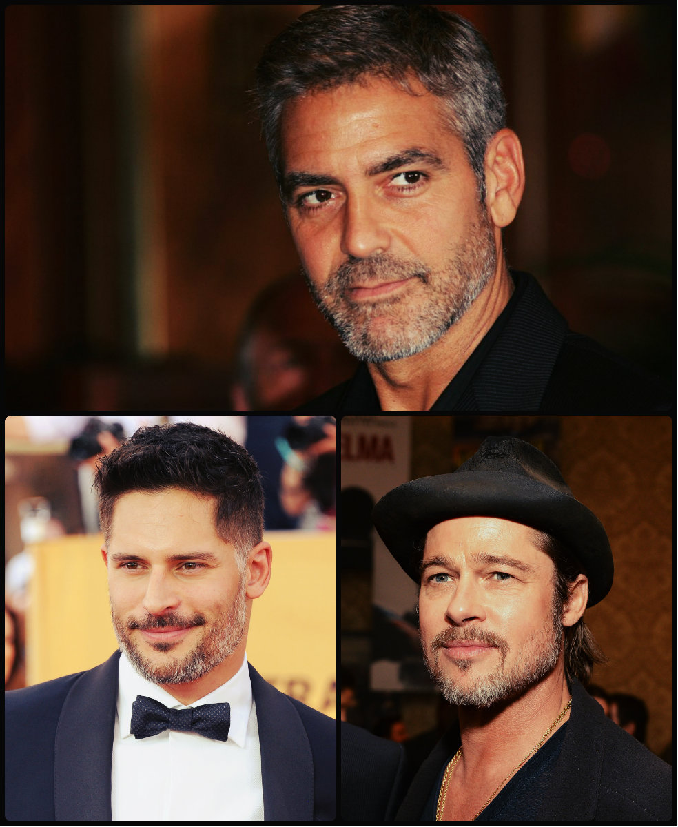 Men Celebrities Magnetic Grey Hairstyles