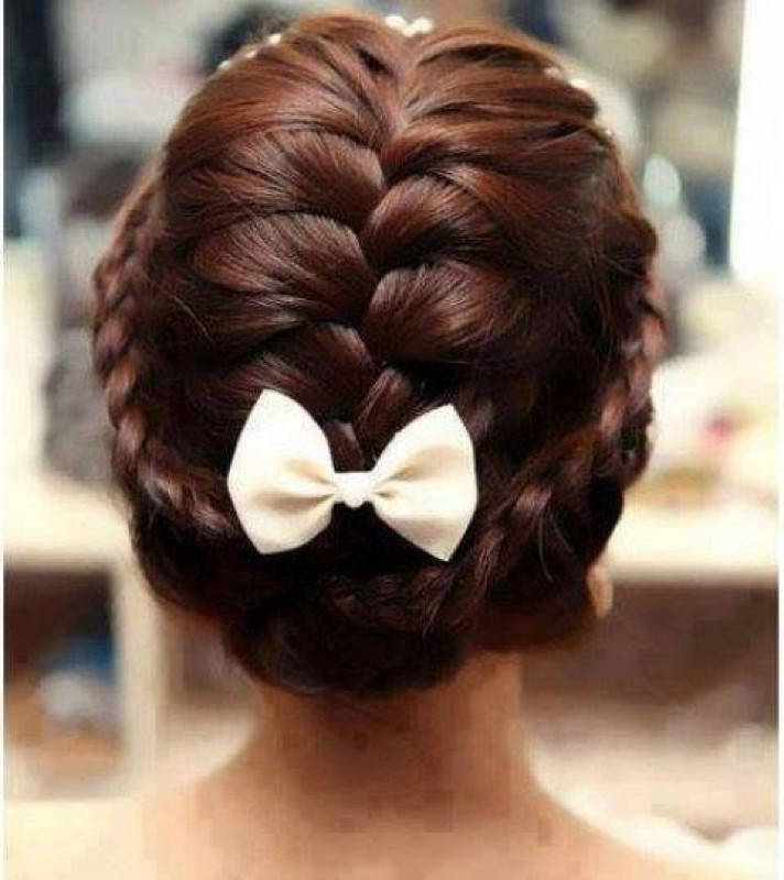 Christmas braids hairstyles for kids 2016