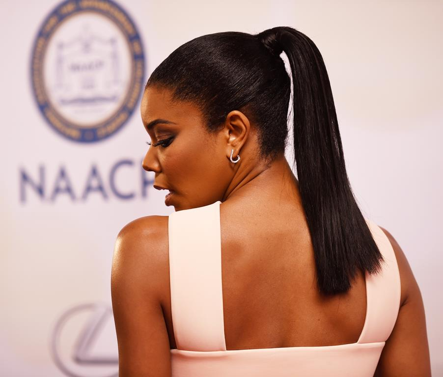 Gabrielle Union ponytail hairstyles