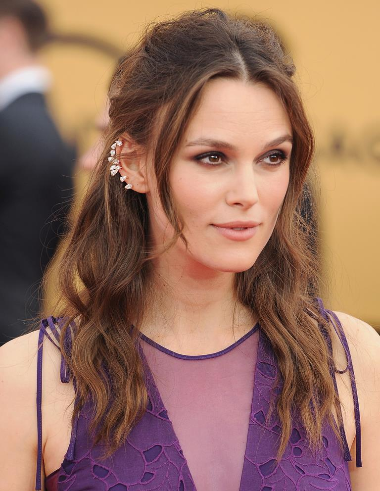 Keira Knightley long party hairstyles