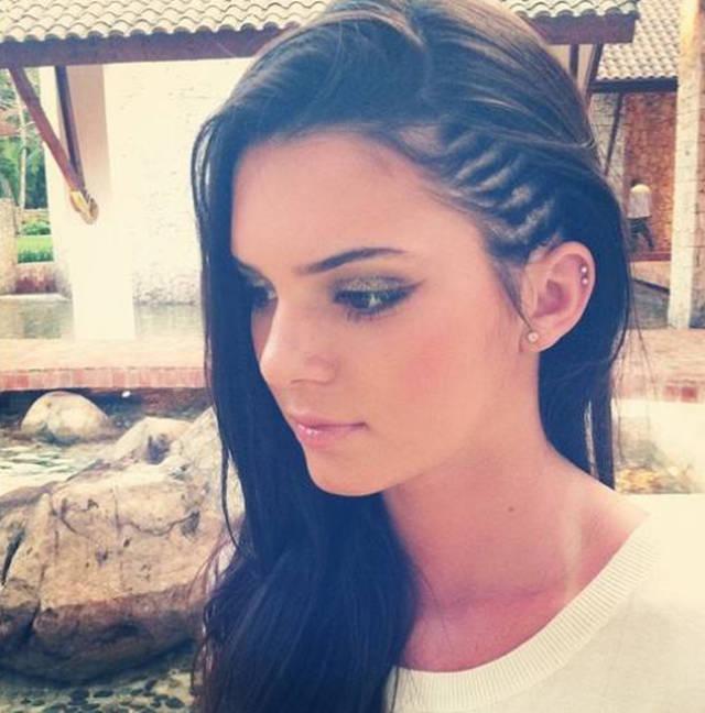 Kendall Jenner Cornrow Braids