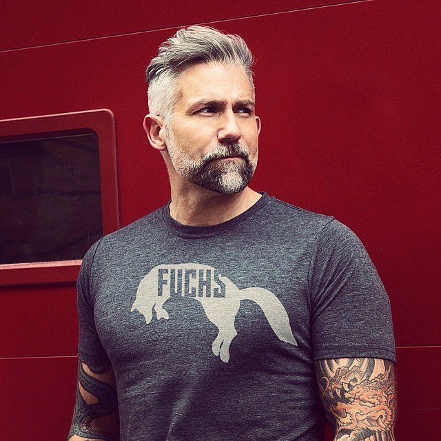 Mens Gray Hairstyles and beards