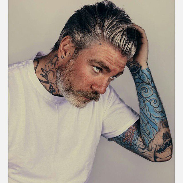 Beards and Gray Hairstyles for mature men