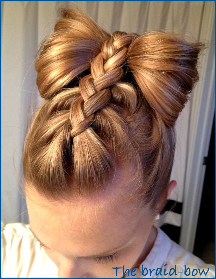New Year Bowand Braids Hairstyles for Kids