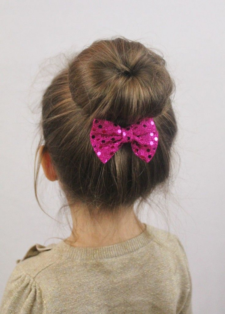 New Year Bun Hairstyles for Kids