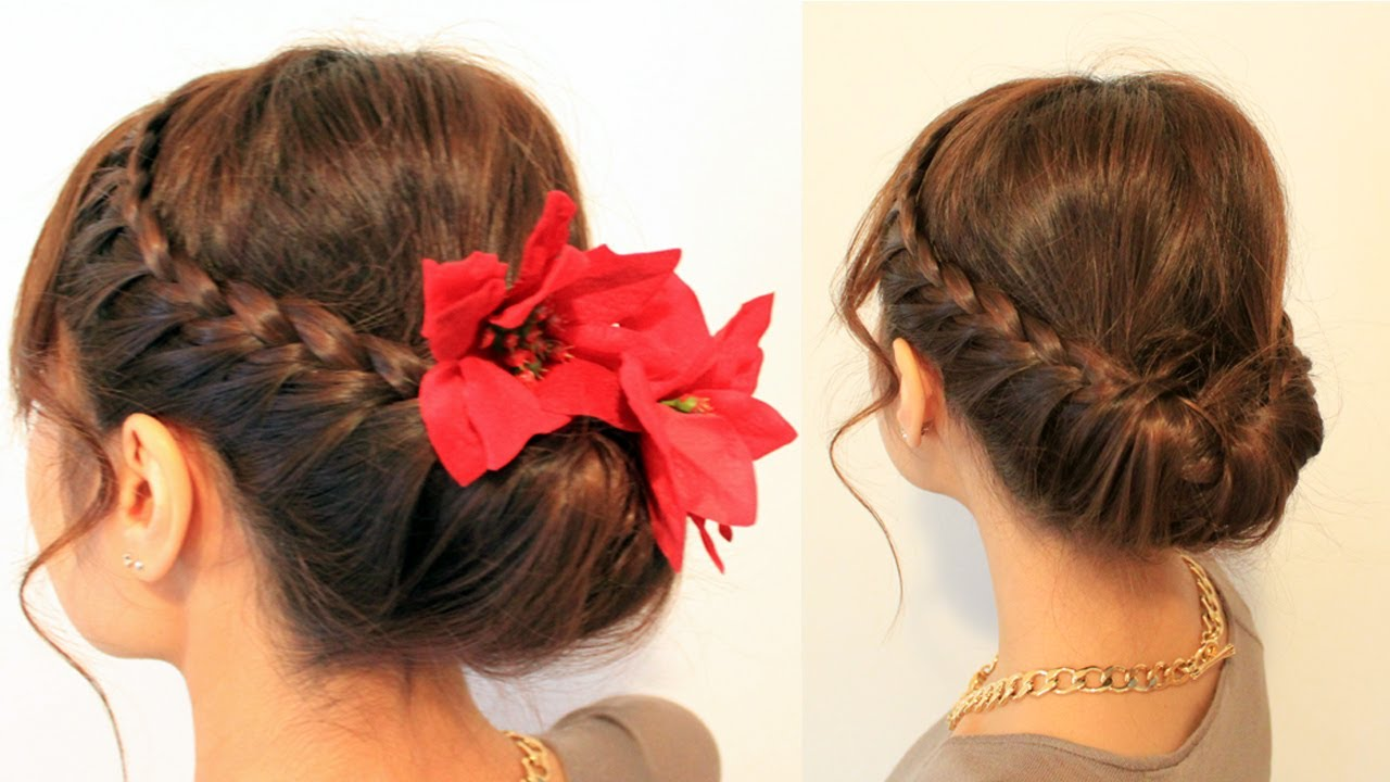 Party Braids and flowers