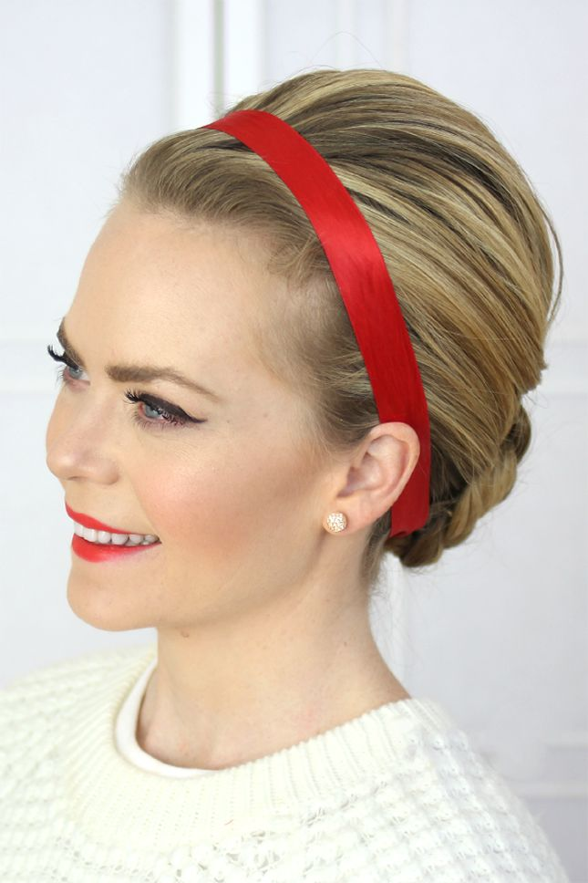 Party Christmas Hairstyles with a headband