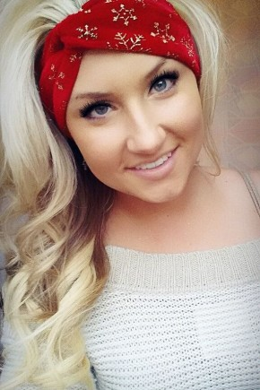 Party Christmas Hairstyles with red headband