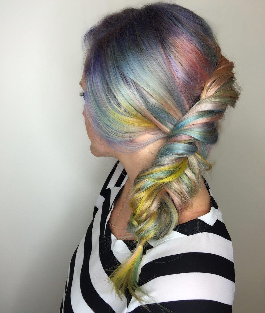 Soft Rainbow hair colors 2016