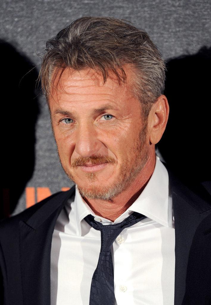 Sean Penn Celebrity Gray Hairstyles for Men