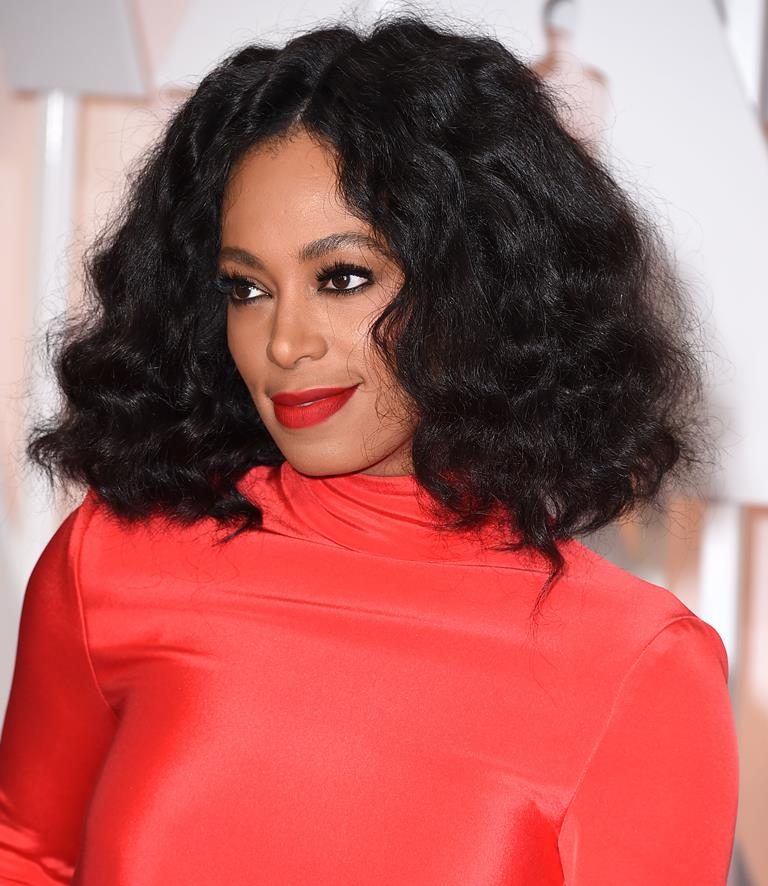 Solange Knowles natural party hairstyles