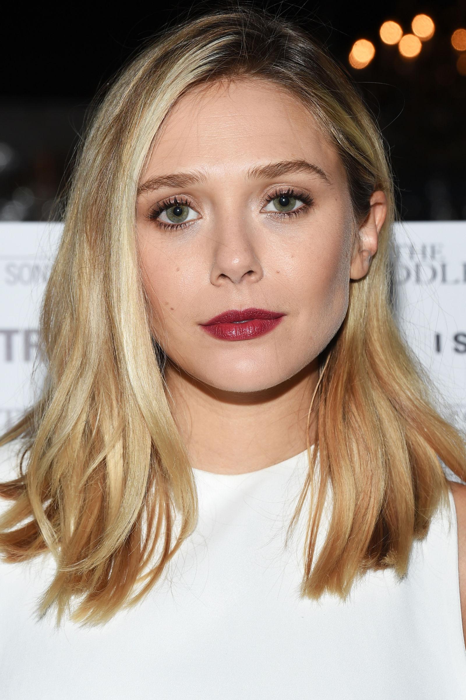 Elizabeth Olsen Winter Hair Colors 2016