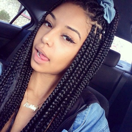 Long Box Braids Hairstyles for black women