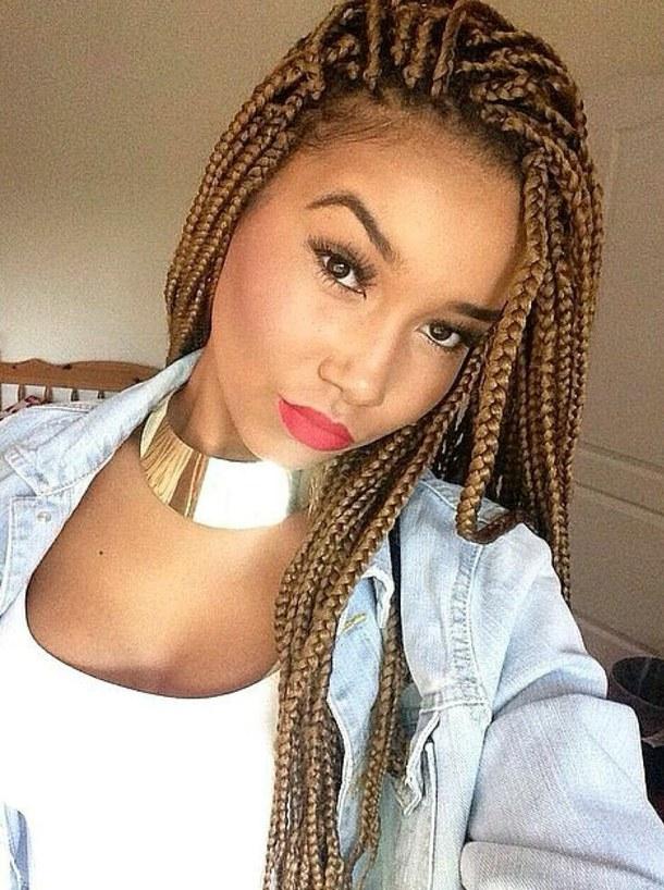 Long Loose Box Braids Hairstyles