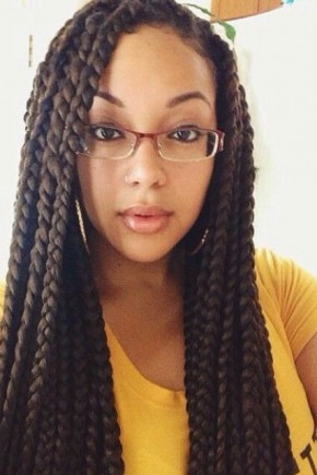 Long Hairstyles from big Box Braids
