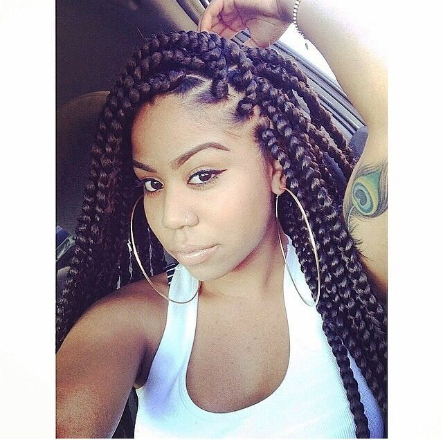 Pleasing Braids To The Back Long Braids Hairstyle Inspiration Daily Dogsangcom