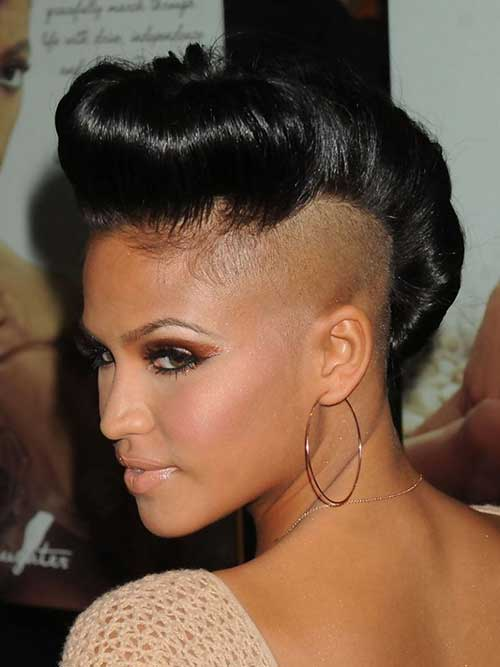 Inventive Short Black Mohawk HairStyles