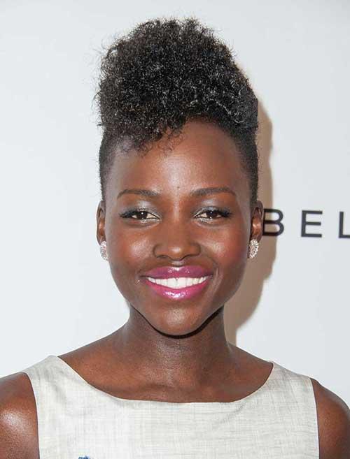 Lupita Nyongo Short Black Mohawk HairStyles