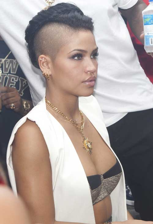 Short Black Shaved Sides Mohawk HairStyles