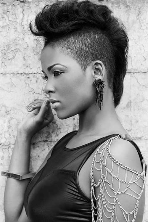 Pleasant Impressive Black Mohawk Hairstyles Hairstyles 2016 Hair Colors Hairstyle Inspiration Daily Dogsangcom