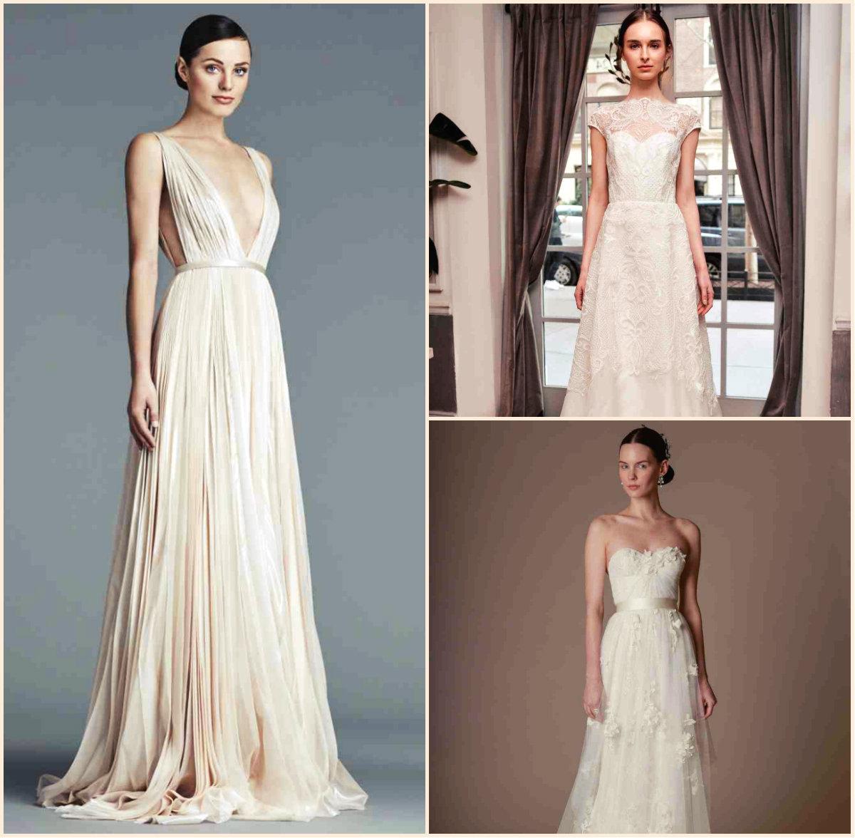 Cool Runways Spring 2016 Bridal Hairstyles And Dresses Hairstyles Short Hairstyles Gunalazisus