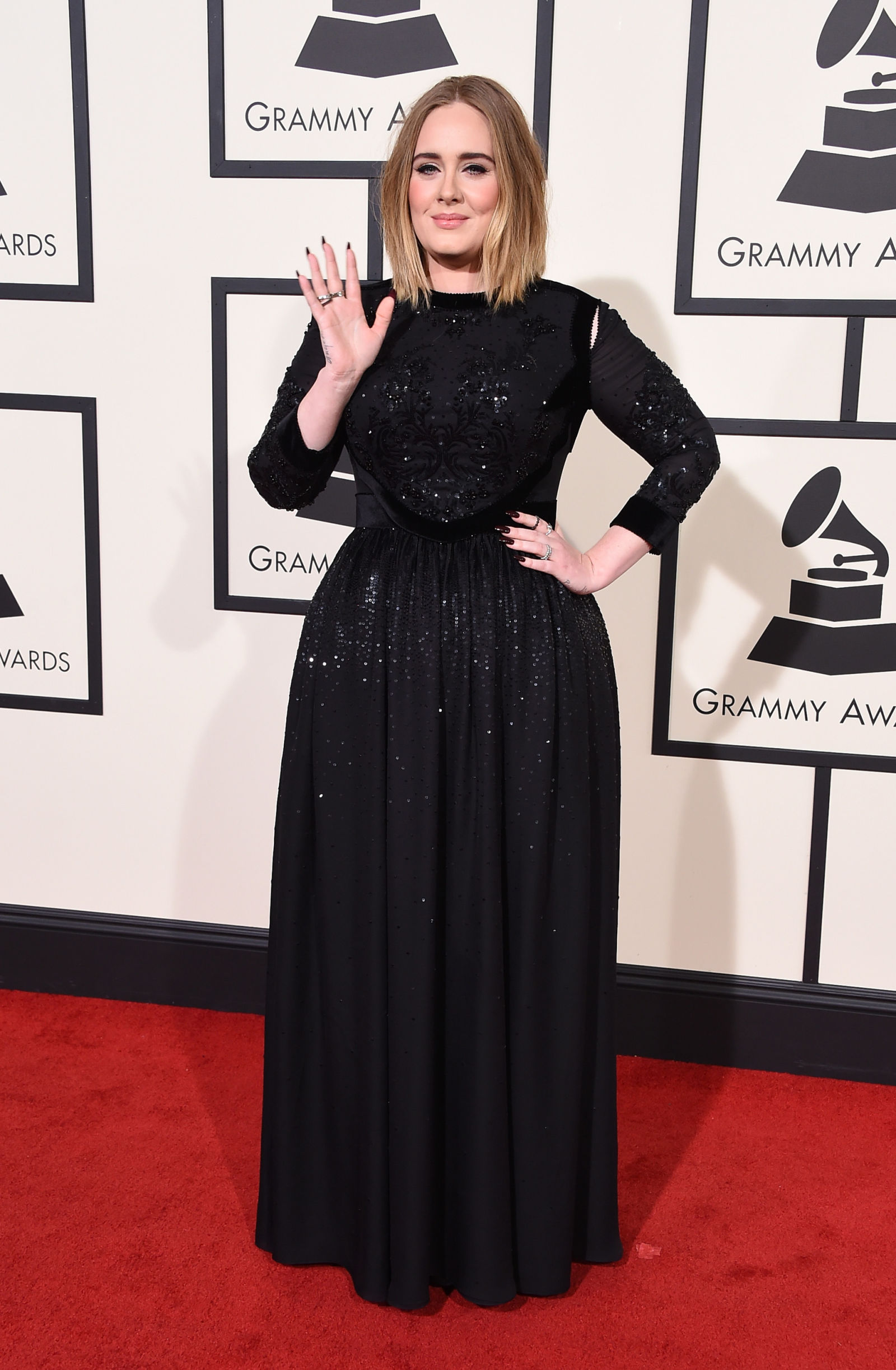 ADELE celebrity hairstyles 2016 Grammys