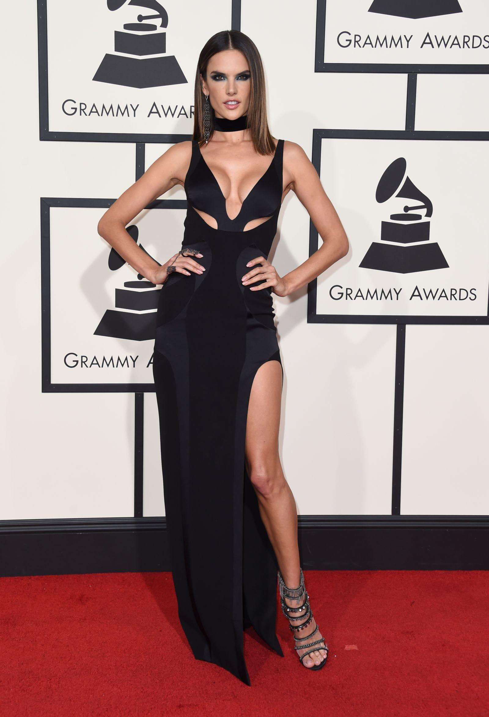 ALESSANDRA AMBROSIO celebrity hairstyles 2016 Grammys