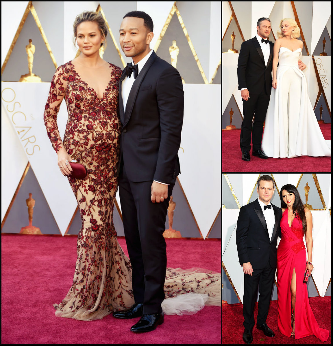 Best Couples and Hairstyles 2016 Oscar's