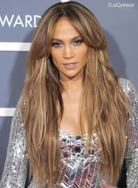 Jennifer Lopez long hairstyles