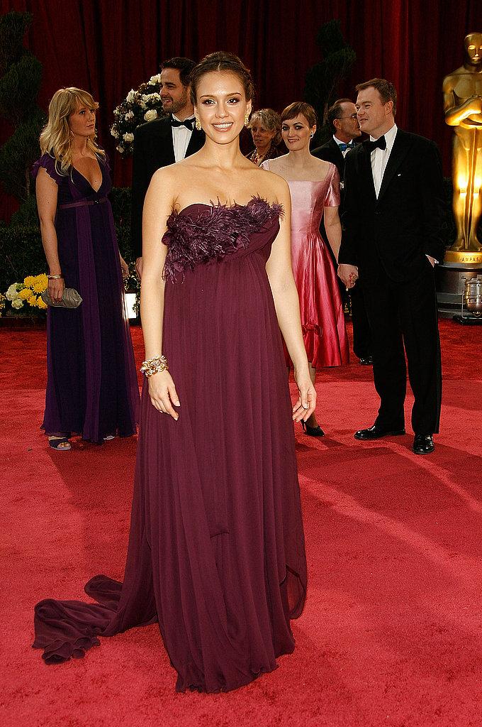 Jessica Alba Celebrity Oscars Hairstyles