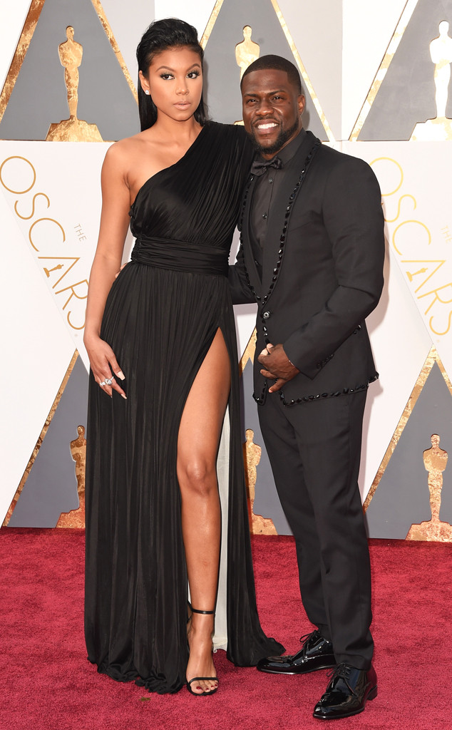 KEVIN HART & ENIKO PARRISH hairstyles at Oscar´s 2016
