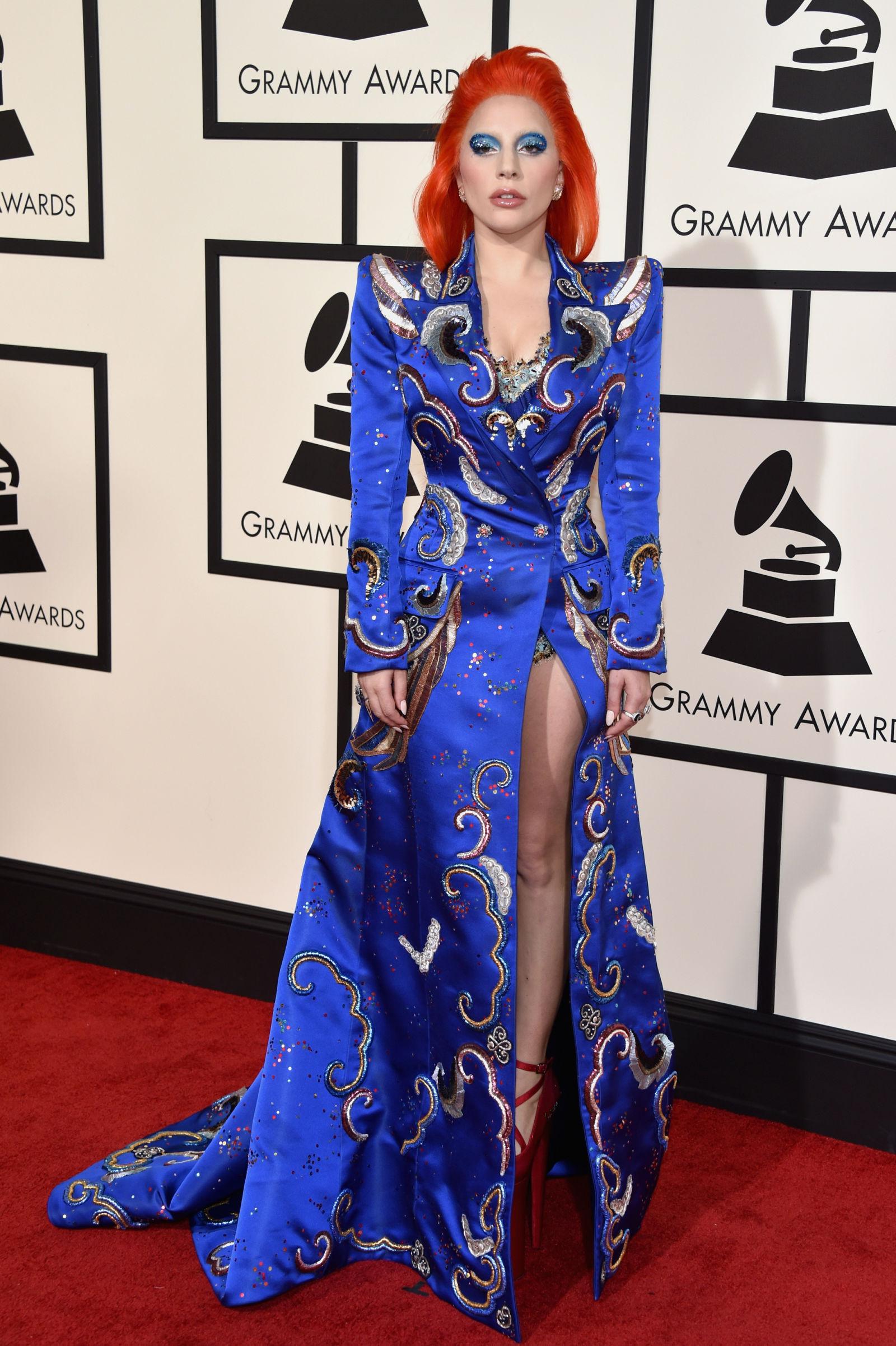 Lady Gaga celebrity hairstyles 2016 Grammys