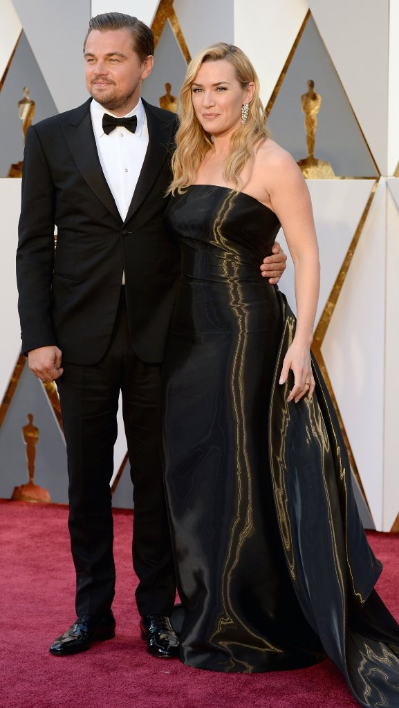 Leonardo DiCaprio and Kate Winslet hairstyles at Oscar´s 2016