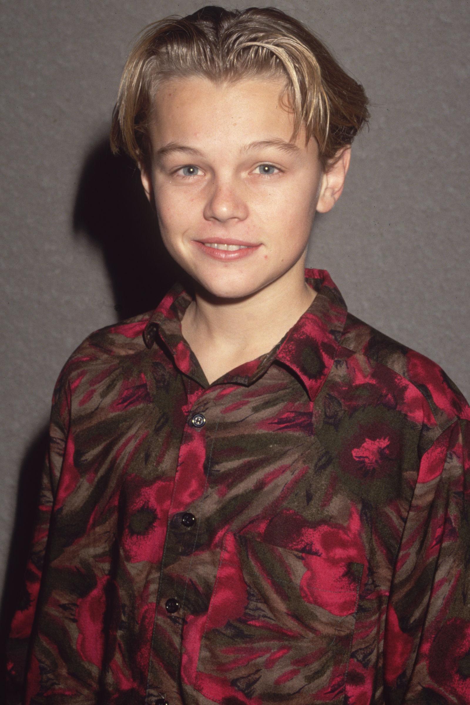 Leonardo diCaprio celebrity hairstyles 1989