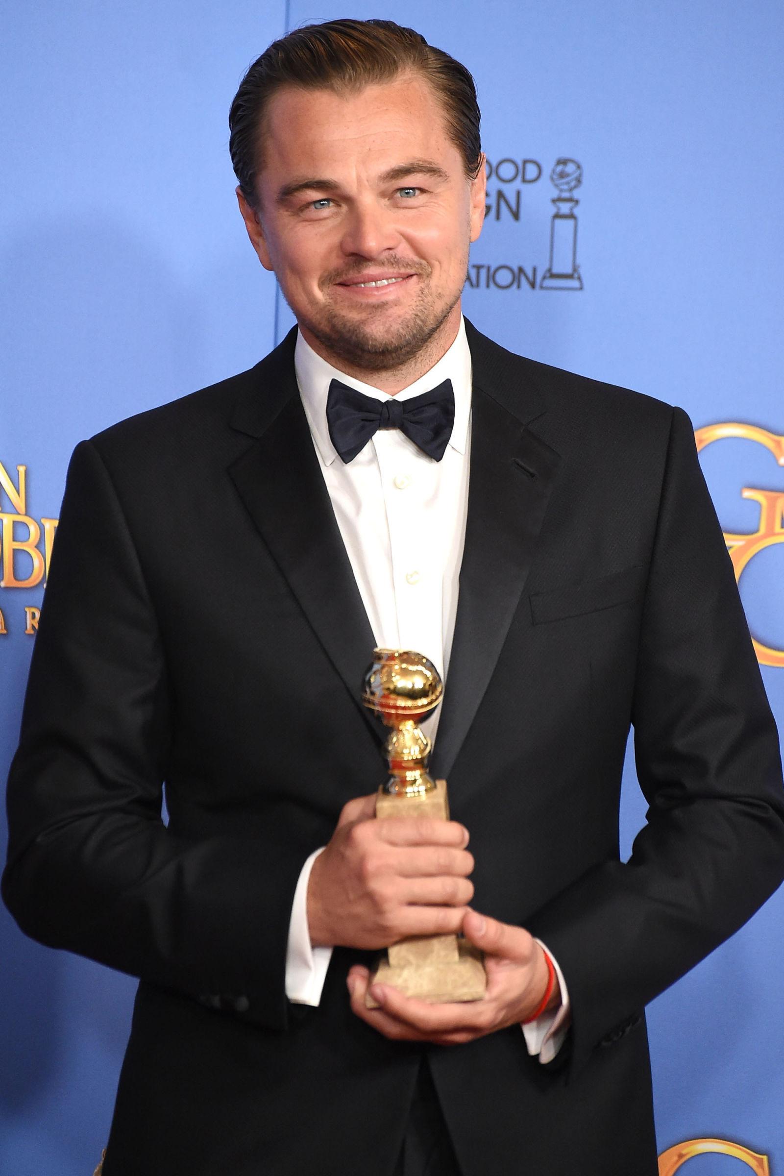 Leonardo diCaprio celebrity hairstyles 2016