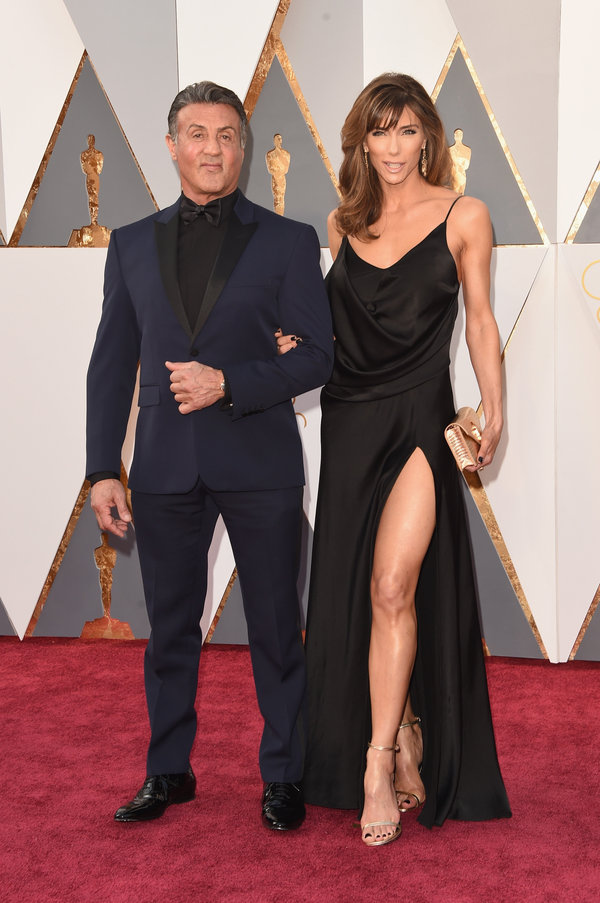Sylvester Stallone and Jennifer Flavin hairstyles at Oscar´s Awards 2016