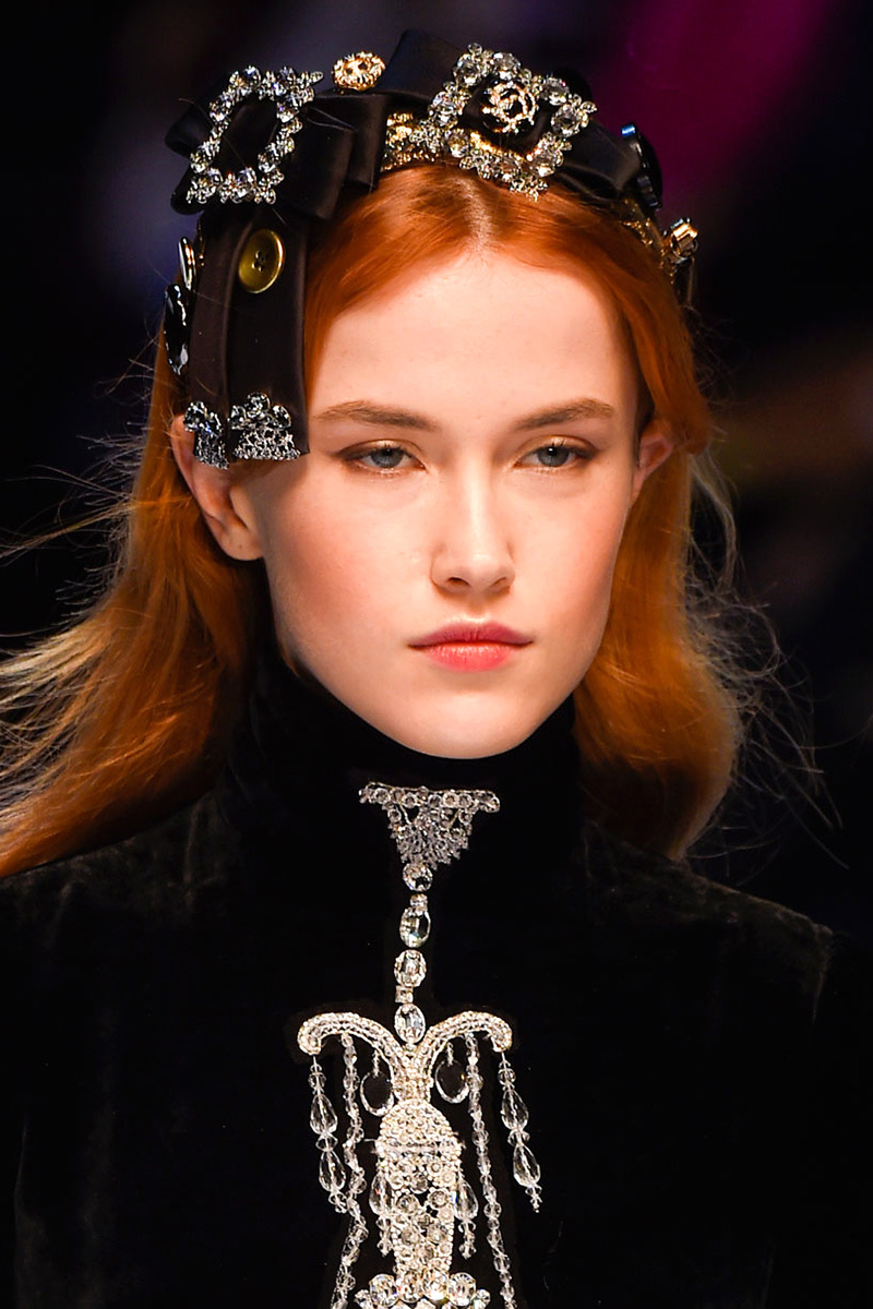 Dolce & Gabbana hairstyles 2016 fall