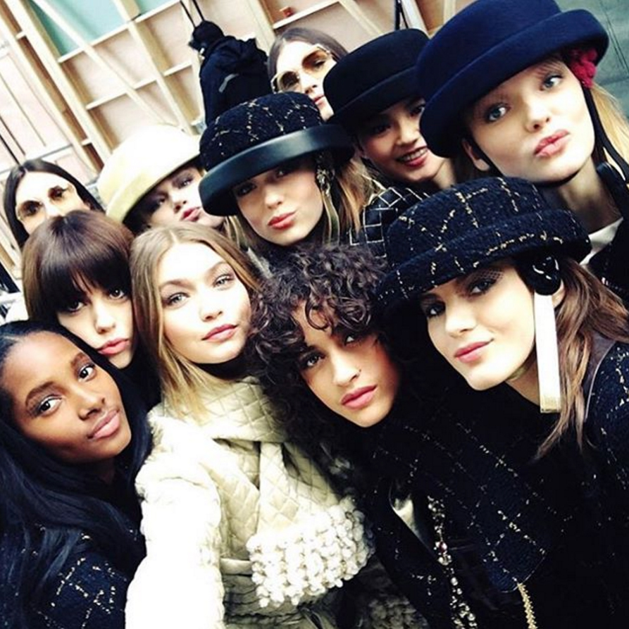 Fall 2016 Backstage hairstyles - Gigi Hadid at Chanel