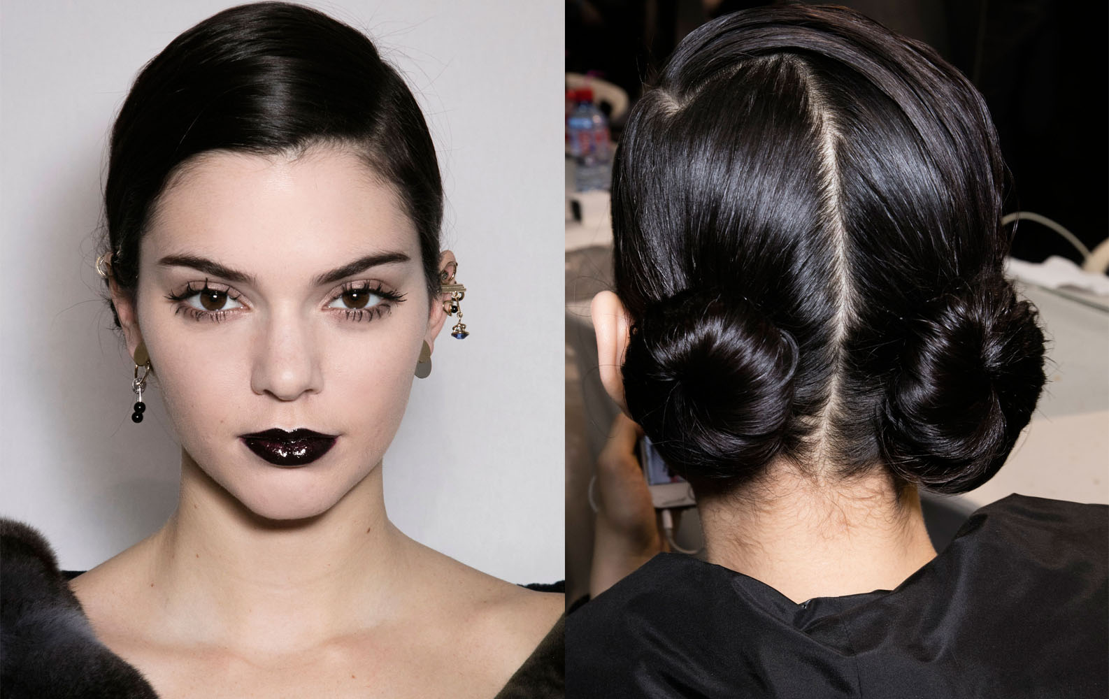 PFW Fall 2016 hairstyles - Kendall Jenner at Dior