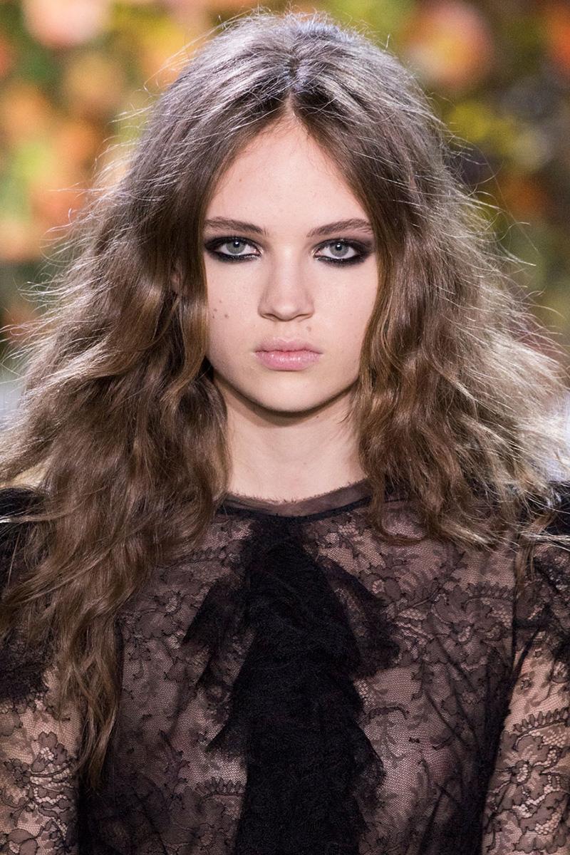 Roberto Cavalli hairstyles 2016 Fall