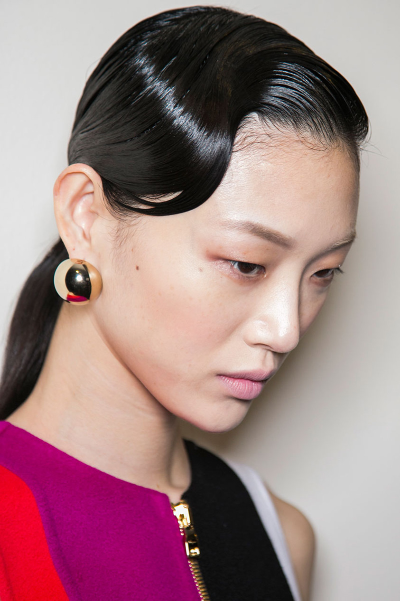 Salvatore Ferragamo hairstyles 2016 fall