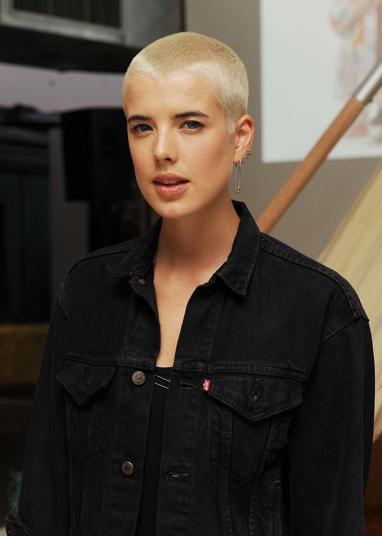 Agyness Deyn buzz cut hairstyles
