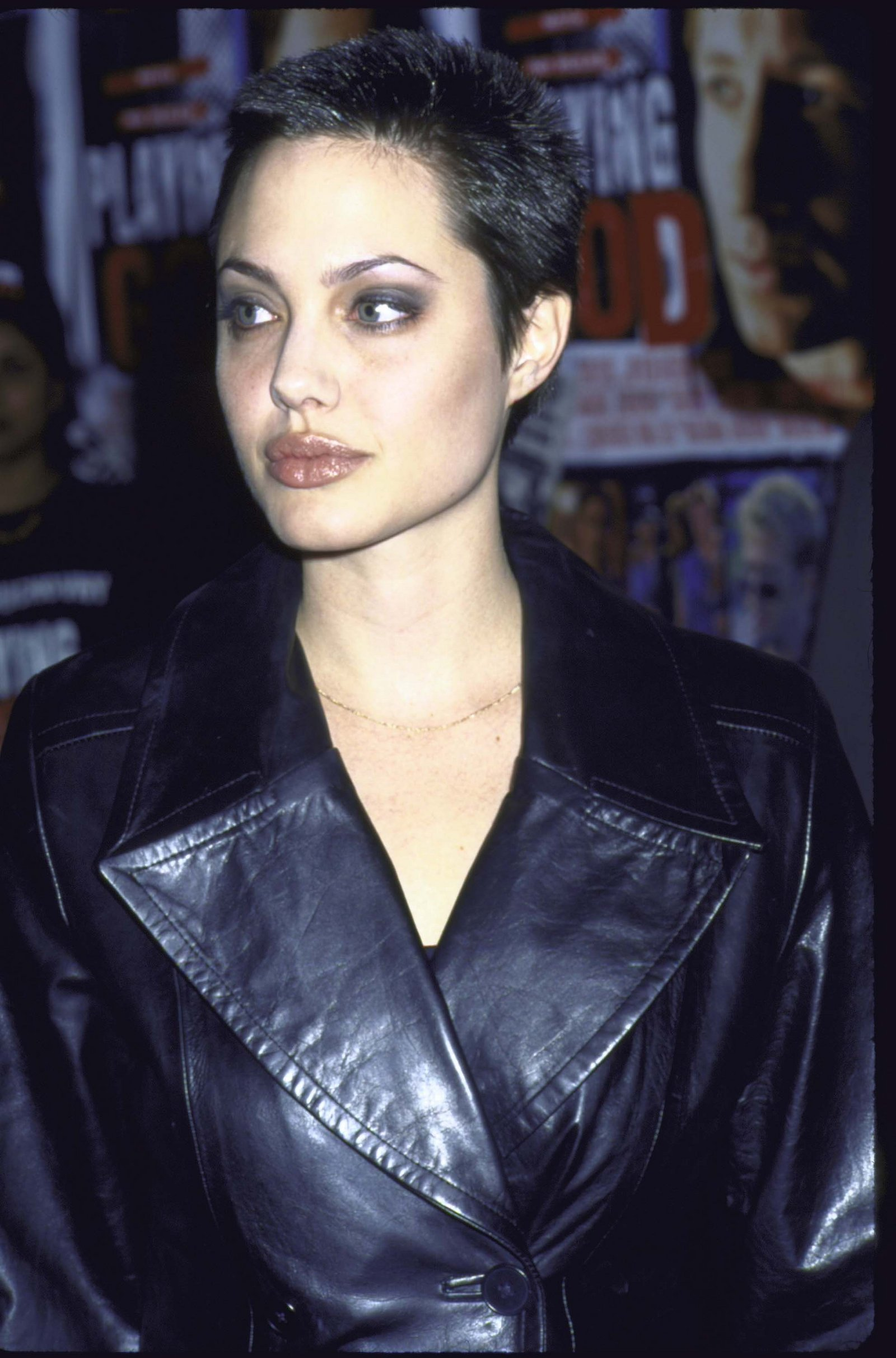 Angelina Jolie buzz cut hairstyles