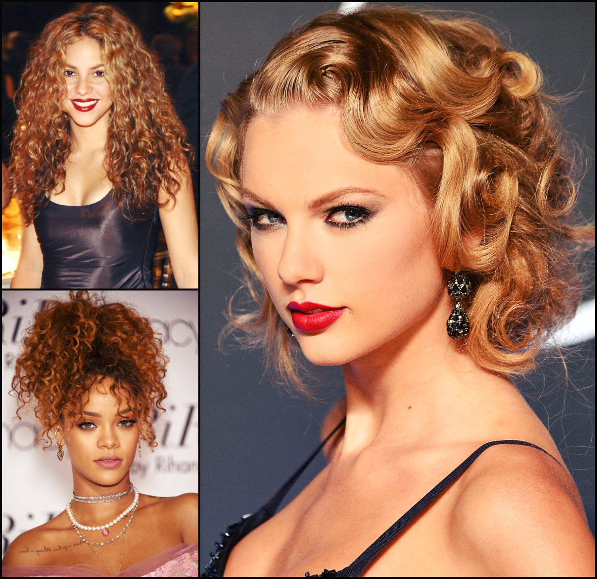 Celebrity Flirty Curly Hairstyles