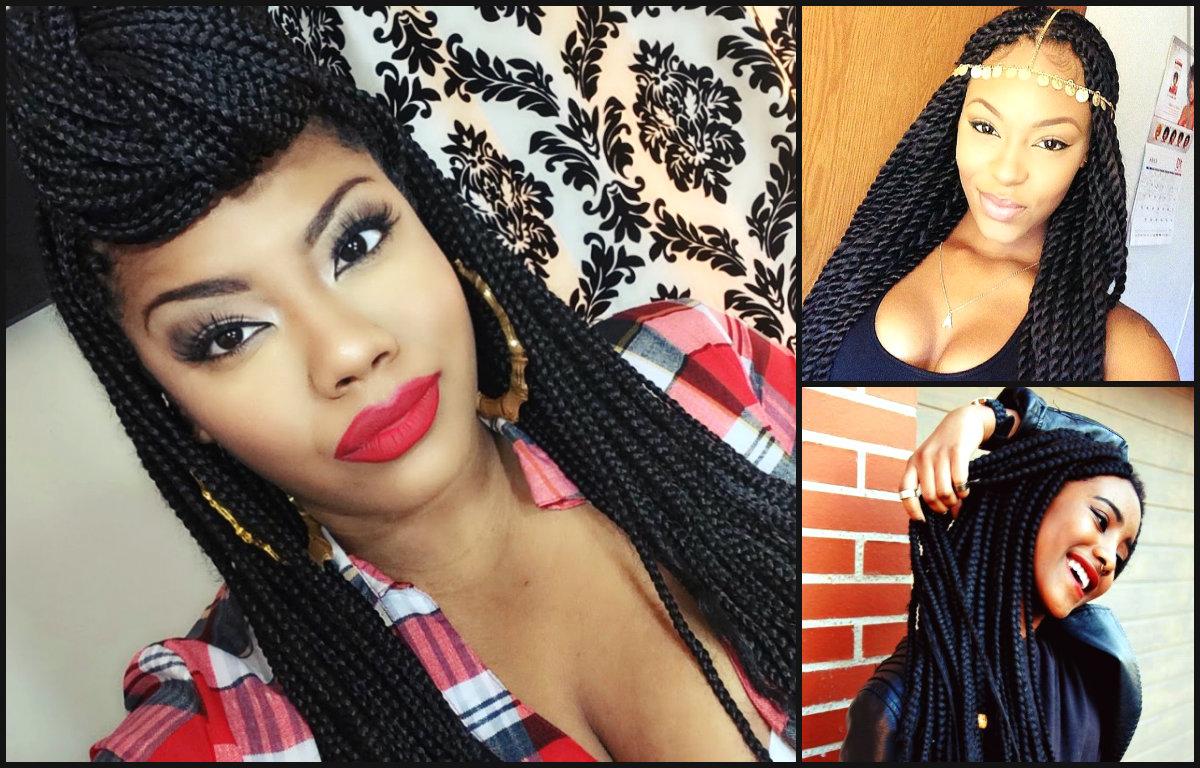 Natural black braids hairstyles